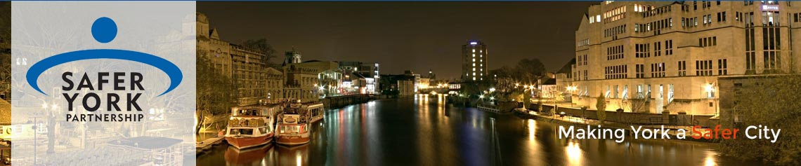 York riverside at night